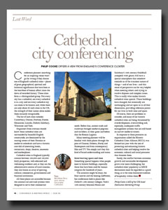 Cathedral City Conferencing article published in Conference & Meetings World magazine