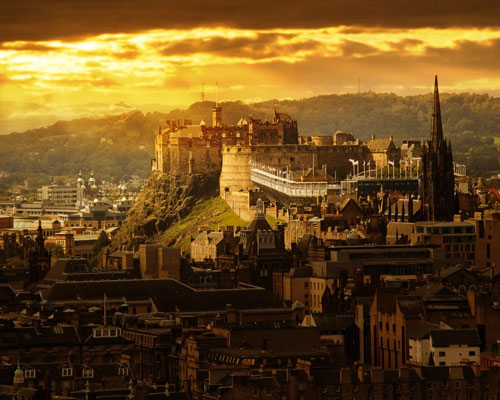 Edinburgh and castle