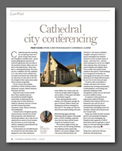 Cathedral City Conferencing article, Conference & Meetings World Magazine