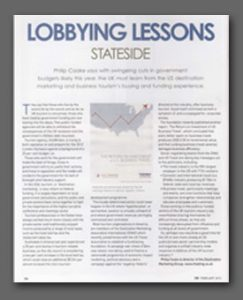 Lobbying Lessons Stateside article, Conference News Magazine