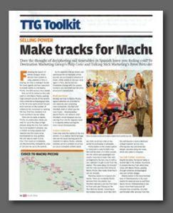 Machu Picchu article, Travel Trade Gazette