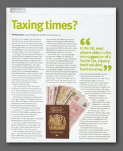 Taxing Times article, Conference News