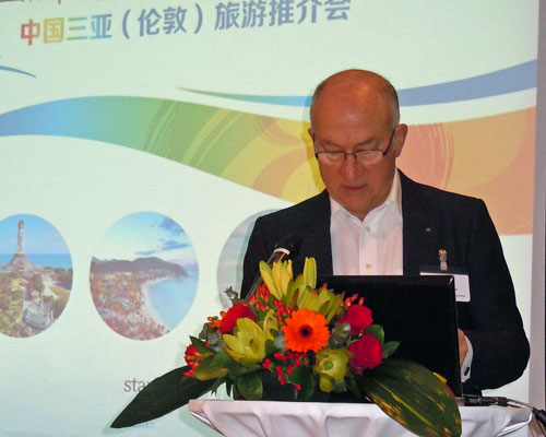Philip Cooke, MD of The DMG, training Chinese travel industry VIPs