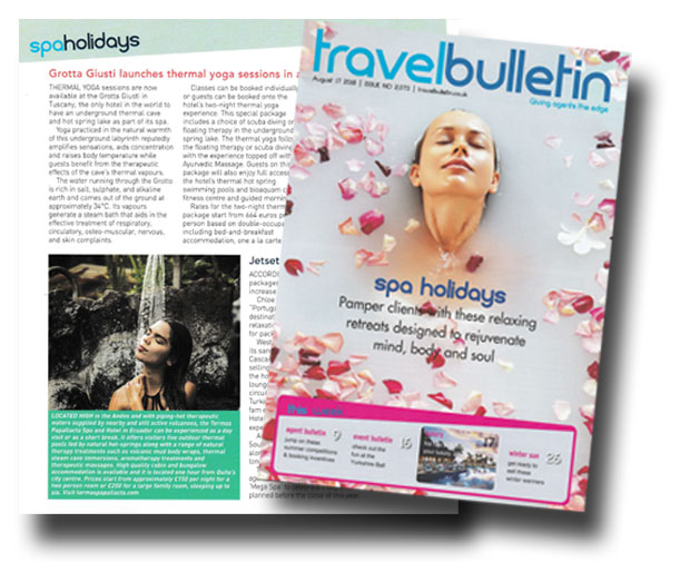 Termas Papallacta Spa featured in Travel Bulletin