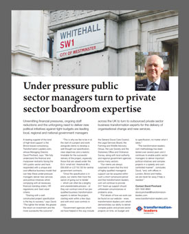 Transformation Leaders article published in Government and Public Sector Journal